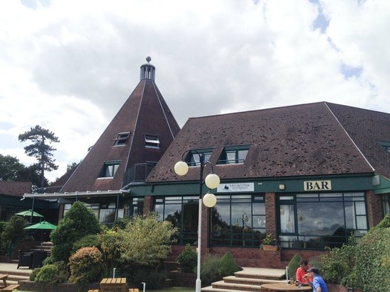 Ufford Park Woodbridge Hotel, Golf & Spa: Our room was at the top of the pointy bit. Beautiful room with stunning panoramic views.