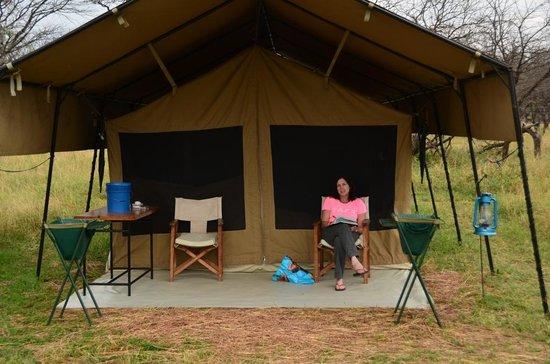 Kati Kati Tented C& Tent veranda & Tent veranda - Picture of Kati Kati Tented Camp Serengeti ...