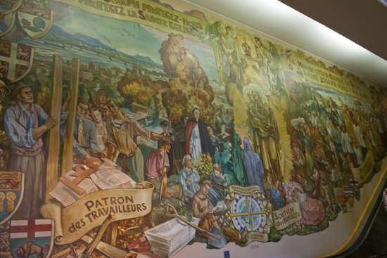 St.-Josephs-Oratorium: внутри, роспись стены