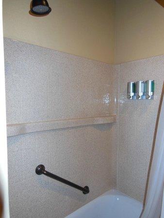 Yosemite Valley Lodge: the shower