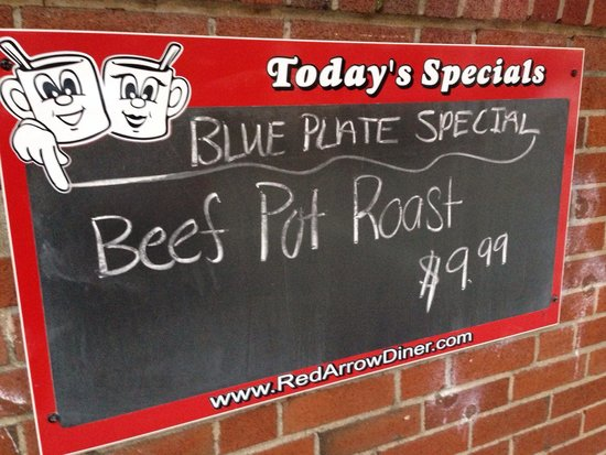 Daily Blue Plate Specials - Picture of Red Arrow Diner