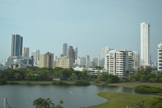 Hilton Cartagena: Vista desde las habitaciones posteriores