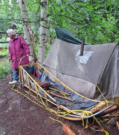 Alaskan Tails of the Trail with Mary Shields: Mary's Mushing Sled & Tent