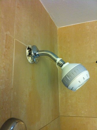 Hilton Palm Springs: shower head falling off wall