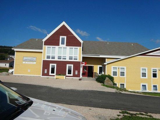 front of Neddies Harbour Inn
