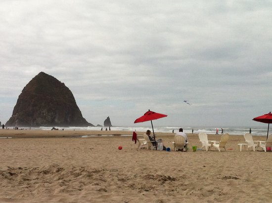 Haystack Rock: A perfect day at the beach.