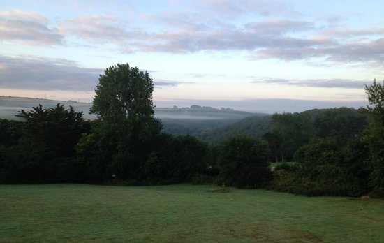 Morning view from Tredethy House attic bedroom (Room 6)