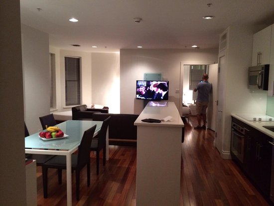 AKA Times Square: Large kitchen living area!