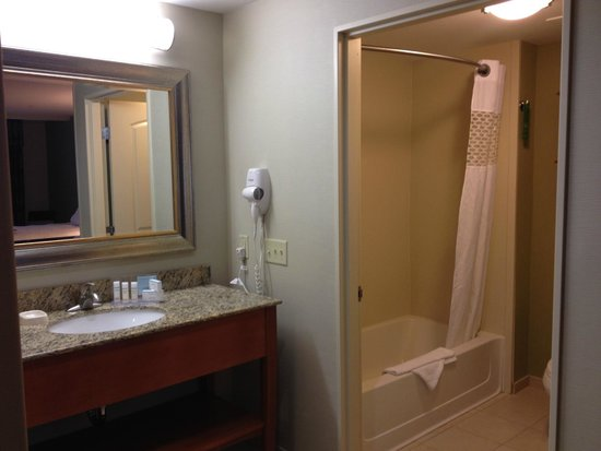 Hampton Inn & Suites Astoria: bathroom