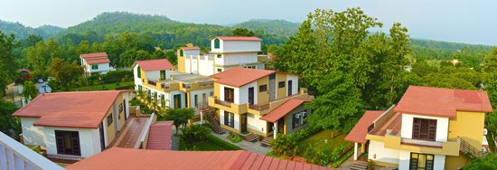 The Tiger Groove Corbett Resort: Panoramic view of TTG