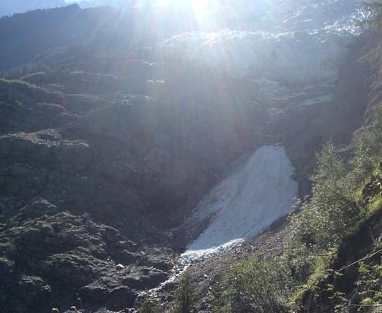 Glacier des Bossons: la langue du glacier