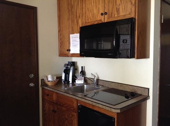Chateau Westport: kitchenette