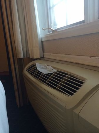 Holiday Inn Express Des Moines/Drake University: A/C unit was so musty I put a dryer sheet in it to help with the smell.