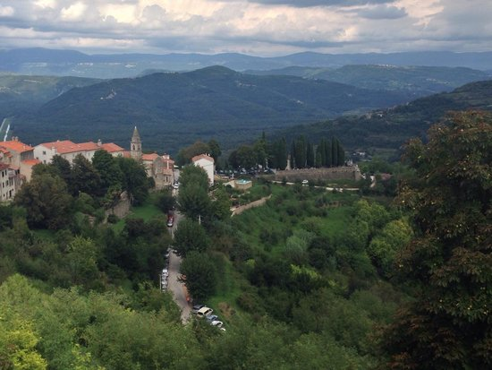 Ancient City Walls: Istria mountains's view from the wall