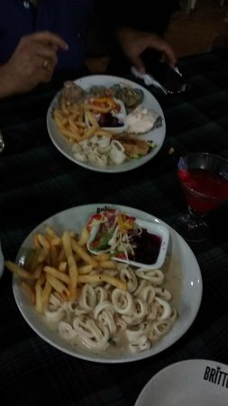 Britto's: Sea Food Platter and Squid