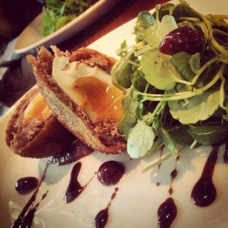 The Moorings: Duck comfit scotch egg..... Amazing