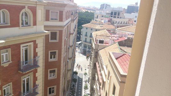 Hotel Don Curro: view from hotel to Larios str