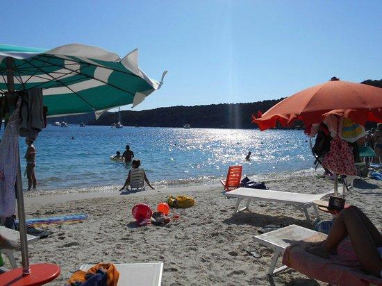 Spiaggia di Tuerredda : La spiaggia alle 17