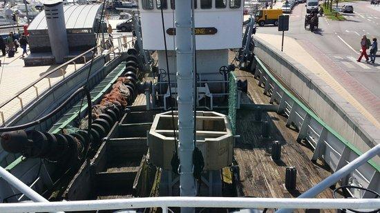 Museumschip Amandine : Ansicht vom Heck des Schiffes