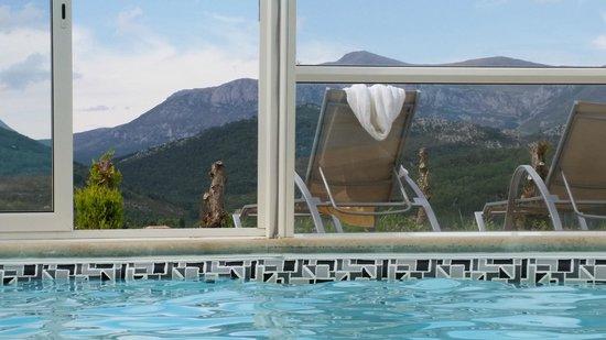 Hotel & Spa des Gorges du Verdon : Vue de la piscine