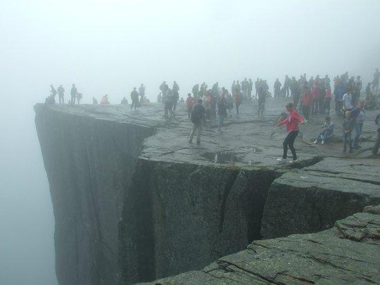 Lysefjord: Con mucha niebla. Una pena
