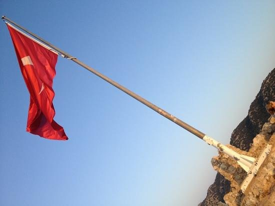 Turkish flag on the top - Picture of Castle of Simena ...