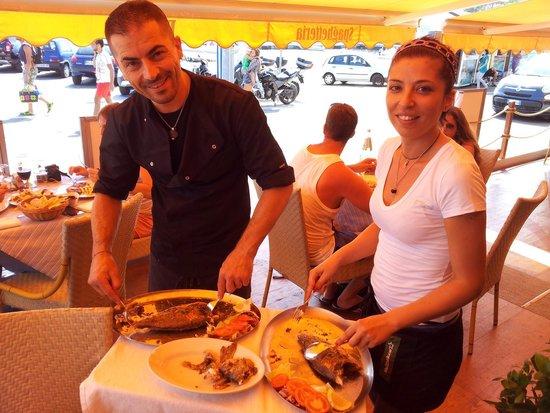Il Nuovo Gabbiano: Echt super Bedienung, die frische Dorade absolut erstklassig. Wir haben auch diverse Pastas prob