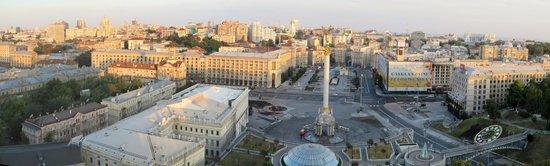 Hotel Ukraine: view from 12th floor