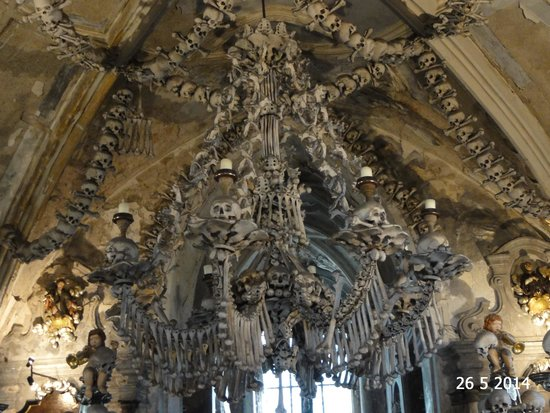 The bone chandelier picture of ossuary the cemetery church ossuary the cemetery church the bone chandelier aloadofball Image collections