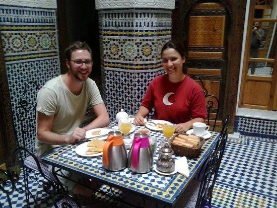 Riad Taryana: Durante la piacevole colazione!