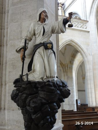 Cathedral of St. Barbara: The miner statue