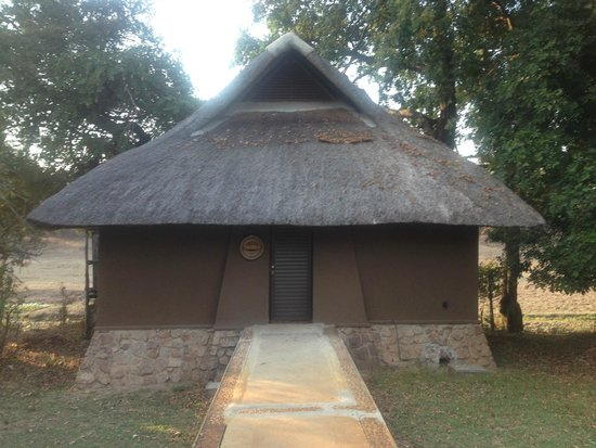 Mfuwe Lodge - The Bushcamp Company: My chalet, Warthog.