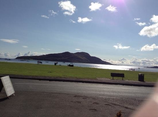 Lamlash Bay Hotel : view from hotel entrance and sitting area