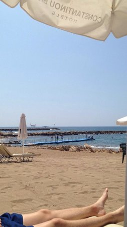 Constantinou Bros Athena Beach Hotel: On the beach