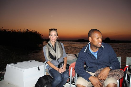 Islands of Siankaba: Sundowner on the river