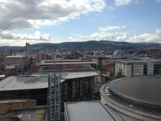 Hilton Belfast : View from our room