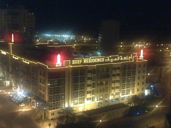 Elite Seef Residence & Hotel : View from Building across- Night