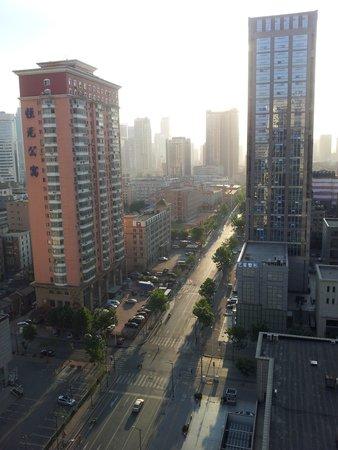 Kempinski Hotel Dalian: Рано утром, вид из номера
