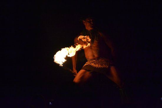 Island Breeze Luau: Dancer with flaming torches