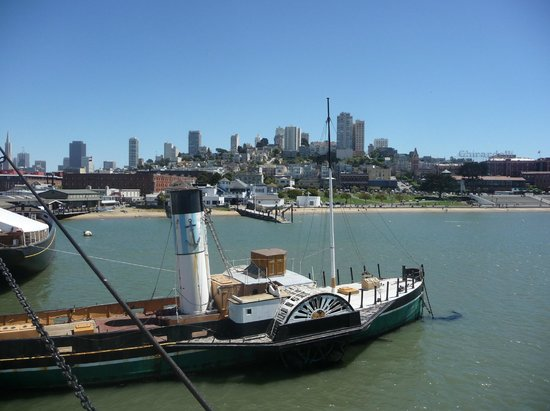 San Francisco Maritime National Historical Park: View back to city from Hyde St pier