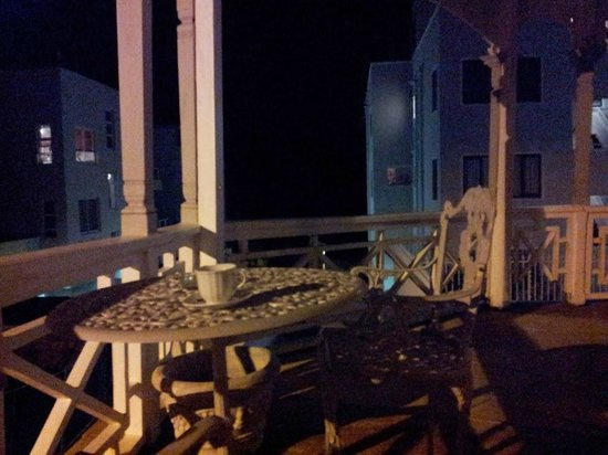 Enchanted Guest House: The balcony by night