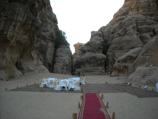Beidha : a party in the desert at Little Petra