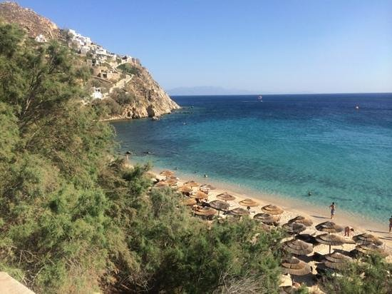 Myconian Imperial Hotel & Thalasso Centre : hotel beach