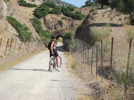 Via Verde de la Sierra : Anticipating the next cool down tunnel