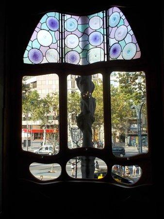 Passeig de Gràcia : Passeig de Gracia view from Casa Batllo
