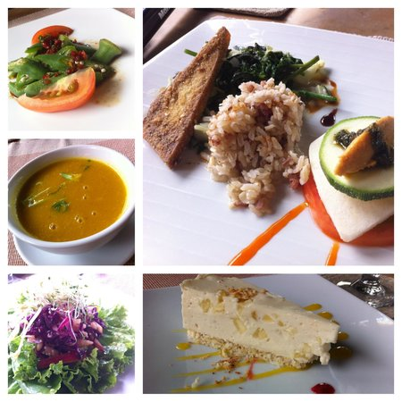The Farm at San Benito: vegan dishes