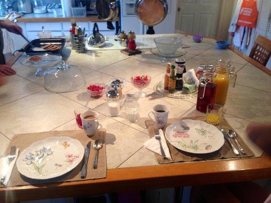 Rose Walk Inn Bed and Breakfast : Breakfast homemade