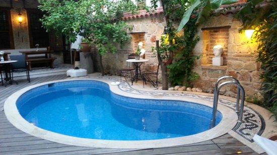 Minyon Hotel: Pool Patio area