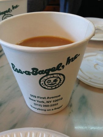 Ess-a-Bagel : A bit lacking in coffee options.