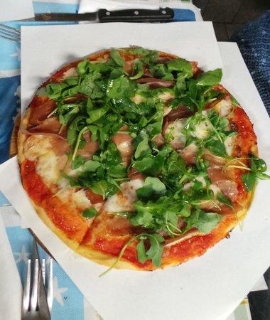 Pizzeria Gran Varignano: Pizza alla rucola